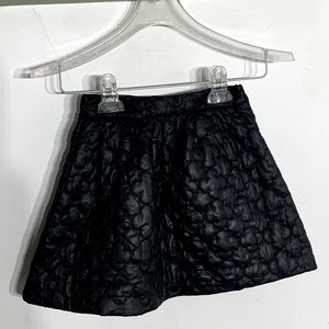Pippa & Julie Black Quilted Puffer Mini Skirt Sz 5